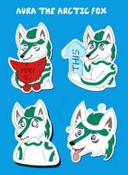 Aura the Arctic Fox Telegram Sticker Pack by Scott04069418