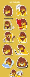 Mel the Lion Telegram Sticker Pack by Scott04069418