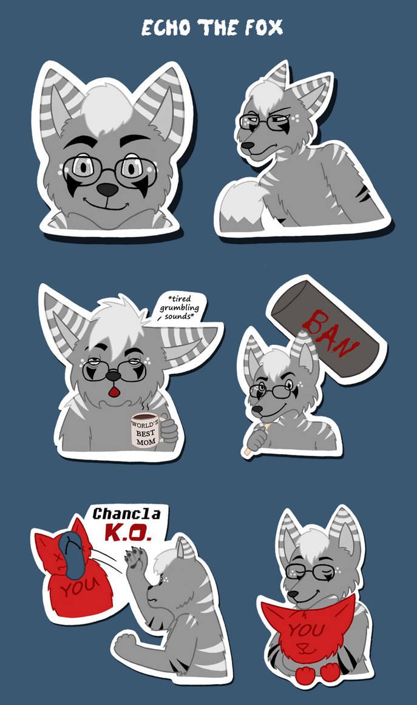 Echo the Fox Telegram Stickers by Scott04069418