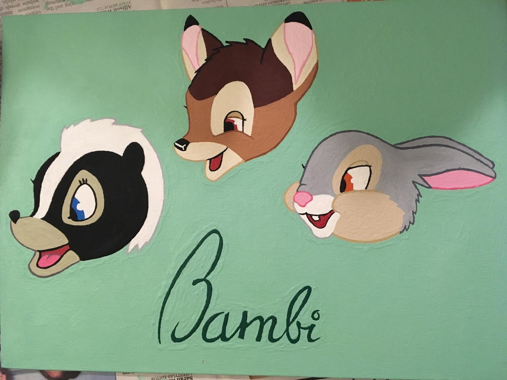 Flower, Bambi, and Thumper Painting by Scott04069418