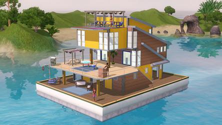 Sims Island Paradise Wallpaper by arinaluvarts