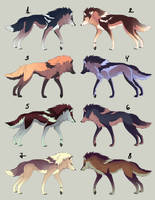 (OPEN re-sale) Gradient Wolf Adoptables by maccarta