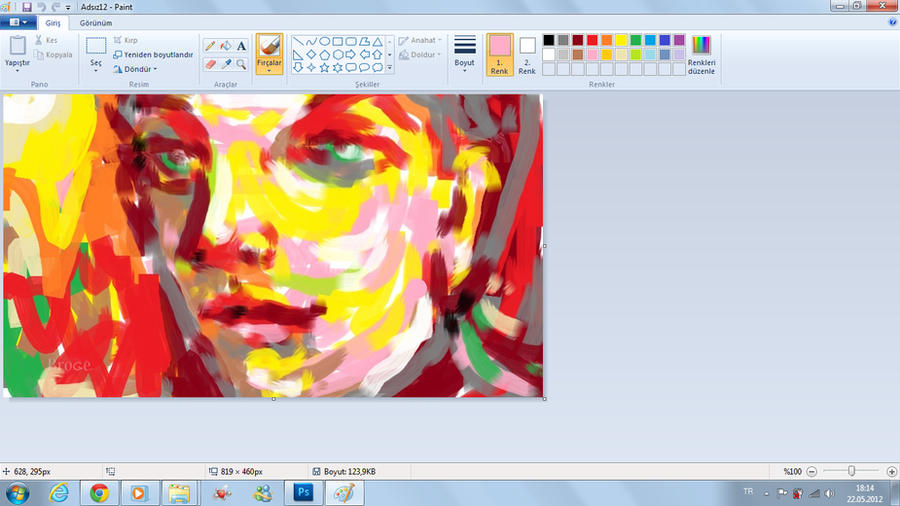 Portrait Windows 7 Paint Software By Ahmetbroge On Deviantart