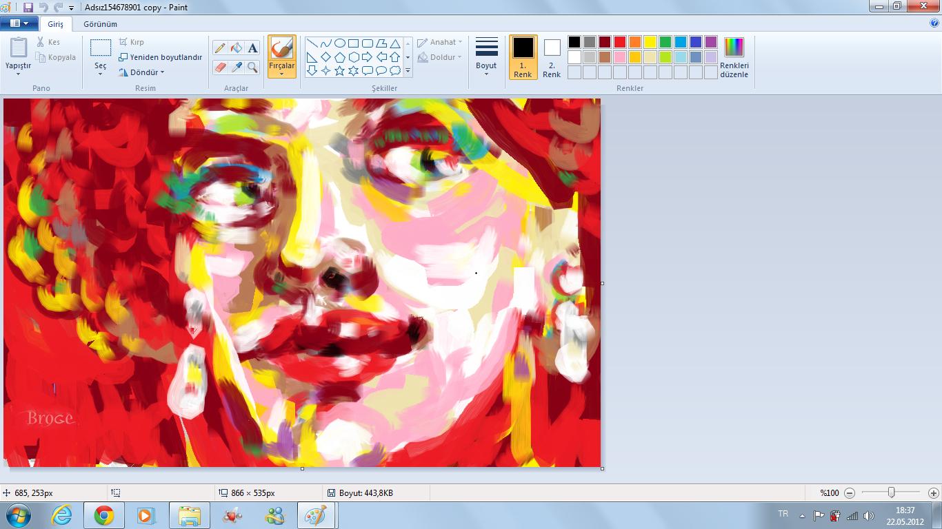 windows 7 paint programında portreler