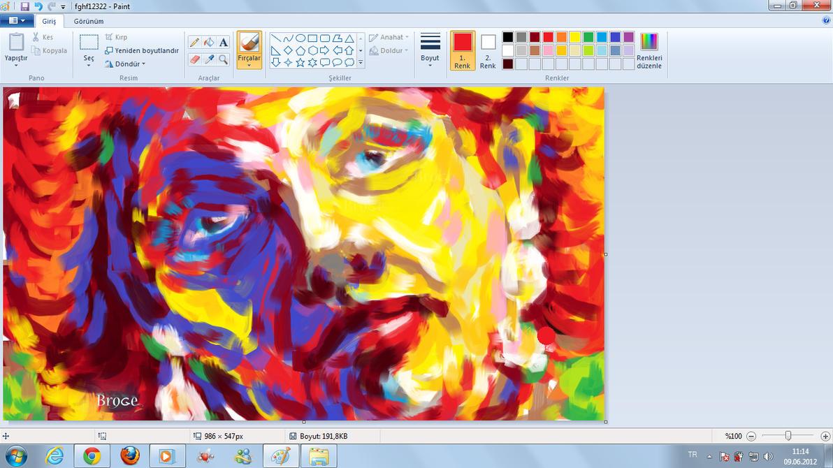 Woman Singer Windows Seven Paint By Ahmetbroge On Deviantart