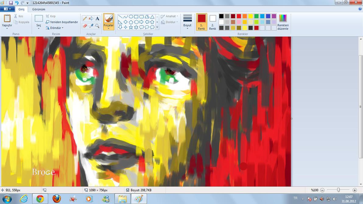 Windows Seven Paint Art By Ahmetbroge On Deviantart