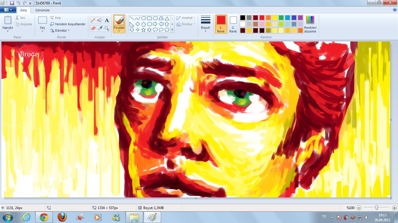 paintte portre yapım aşamaları (windows 7 paint tutorial) (4. tur)