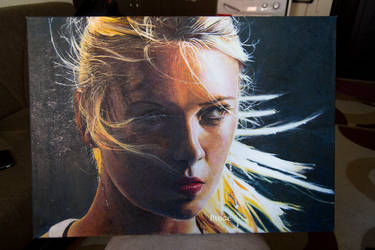 Oil Paint Maria Sharapova by ahmetbroge