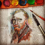 vincent van gogh portrait newspaper