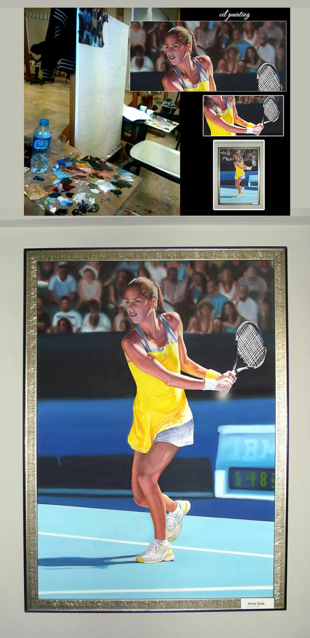 oil painting ana ivanovic 1 by ahmetbroge