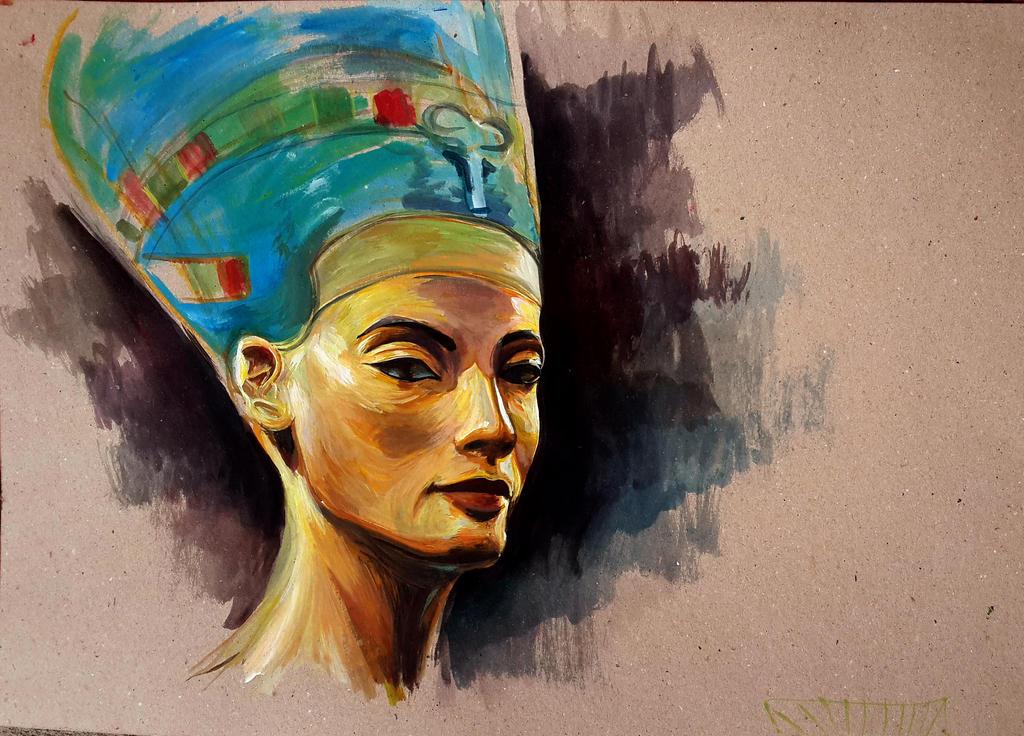 Image result for Nefertiti painting