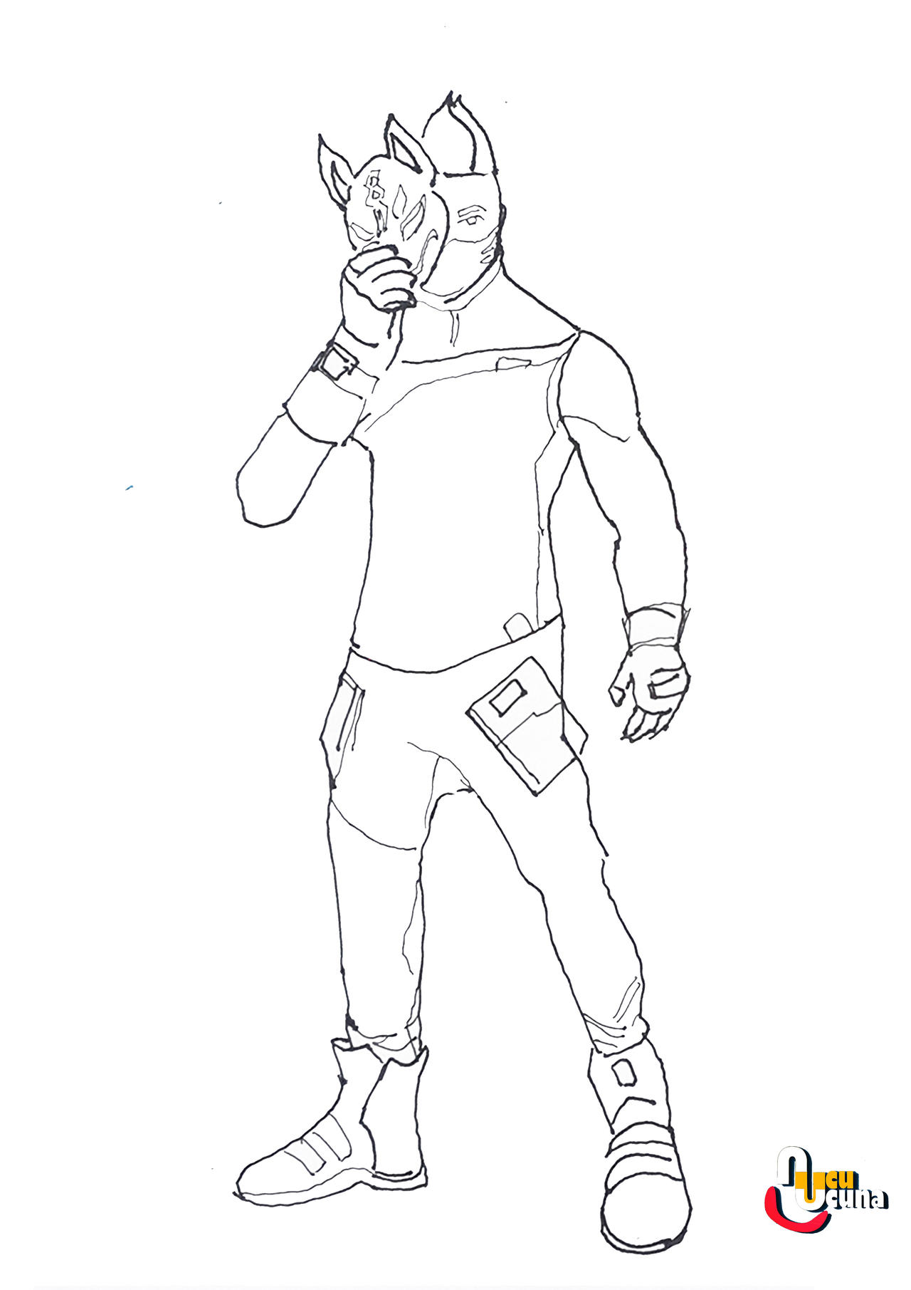 Fortnite Drift Free Coloring Pages