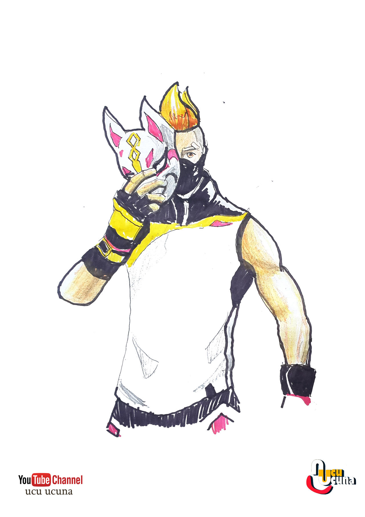 How To Draw Drift From Fortnite Step By Step By Ahmetbroge