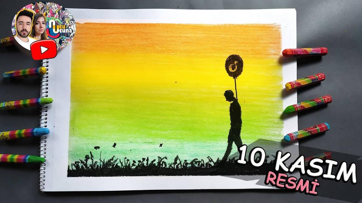 10 Kasim Resmi Pastel Boya By Ahmetbroge On Deviantart