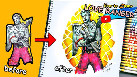 How to Draw the Love Ranger  Fortnite