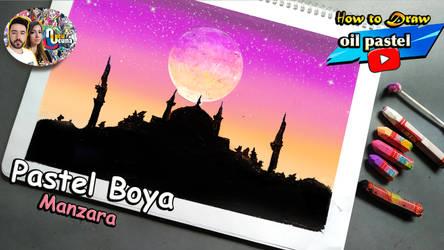 Pastel Boya Manzara cami