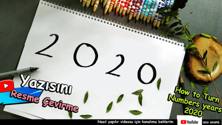 how to turn numbers years 2020 very easy