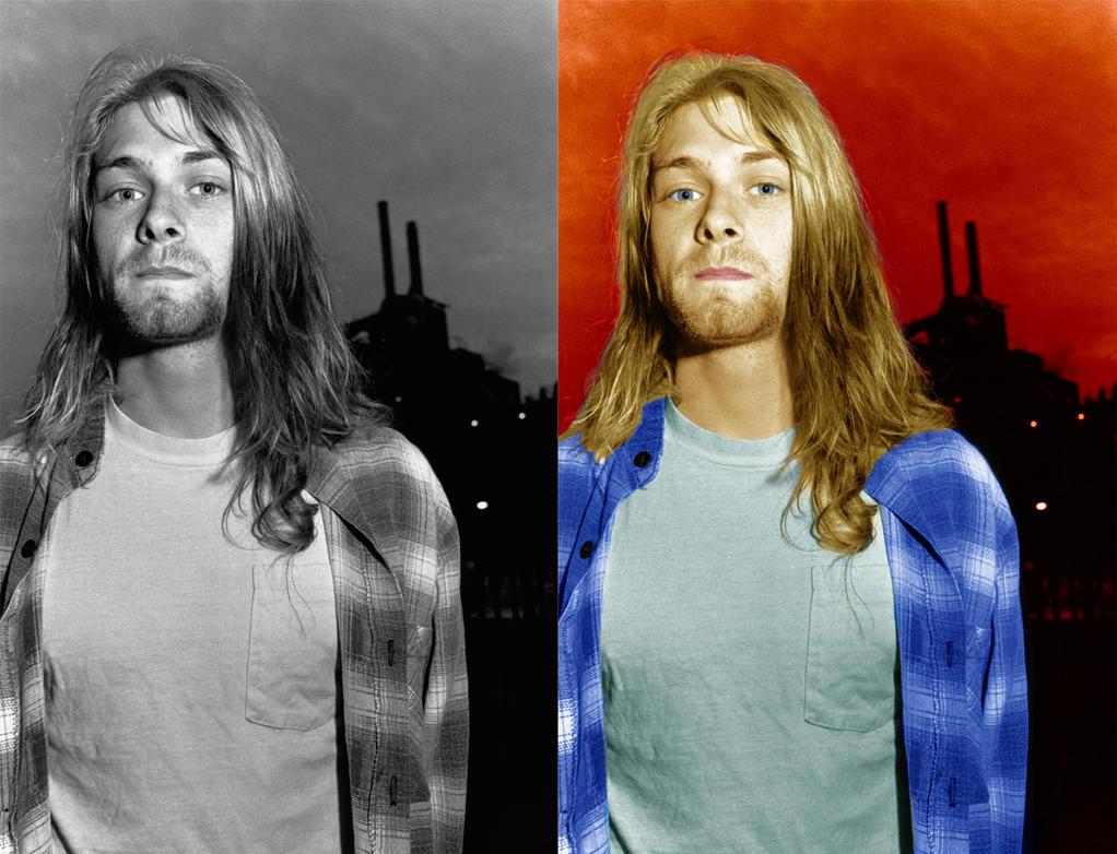 Kurt Cobain Colorized by MC-E42A