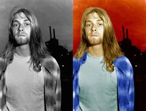Kurt Cobain Colorized