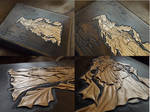 leather tooled book