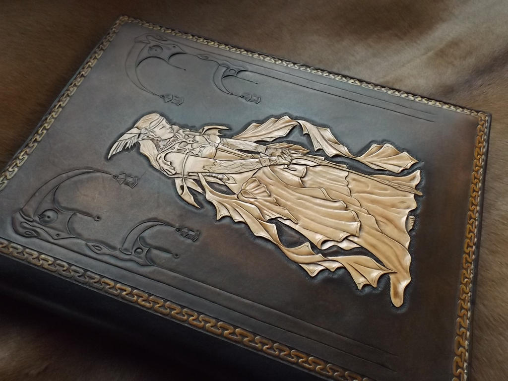 leather tooled bookcover by creationsmjf on deviantart