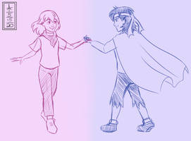 Bella and Pino (Sketch)