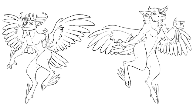 Anthro Deerbirb Base by samalamb-bases