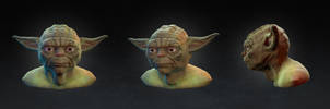 Yoda Speed Sculpt Bust by fabian3224