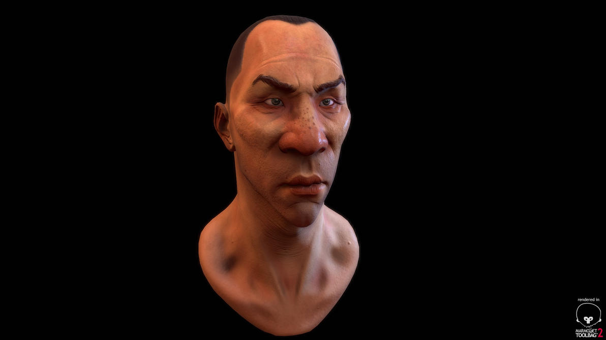 Brink Concept Bust WIP by fabian3224