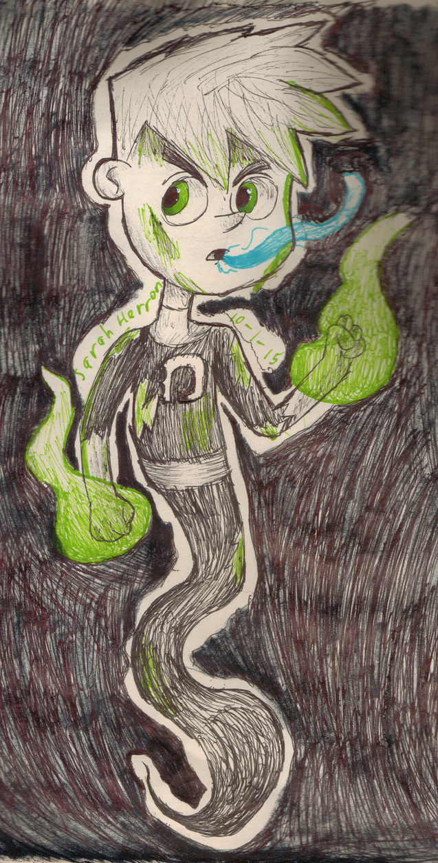 Inktober Day 1: Danny Phantom by Sarah-Herron