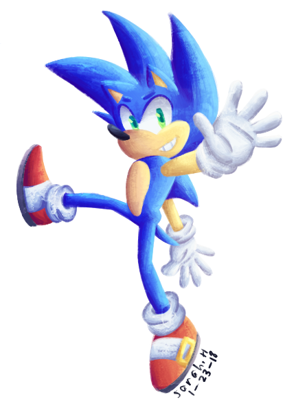 Transparent Sonic The Hedgehog Painting By Sarah Herron On Deviantart