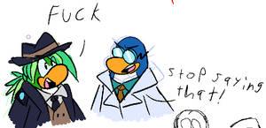 Old club penguin doodle