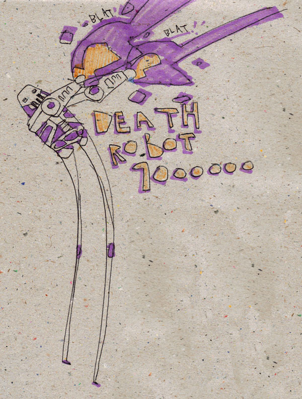 DEATH ROBOT 9000000 by MANeatingCLOTHES