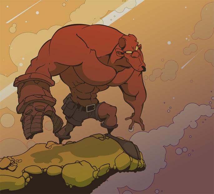 Hellboy by MechanicalPumpkin