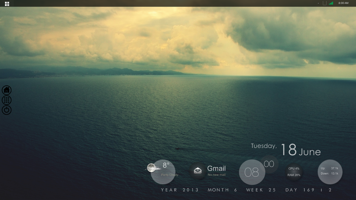 A Calm Day / June 2013 Desktop by KirstenJacob