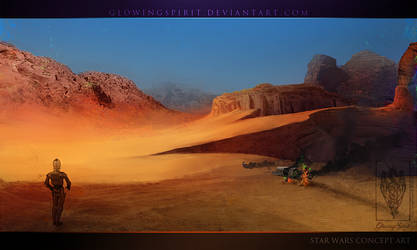 Star Wars Concept Jedha by GlowingSpirit