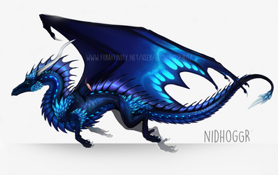 Nidhoggr's new design WIP by GlowingSpirit
