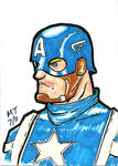 Captain America Sketch Card I