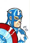 Captain America Sketch Card II