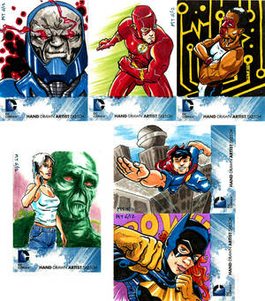 DC New 52 Sketch Cards Set 3