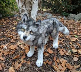 Wolf Art Doll by Katia Leyt