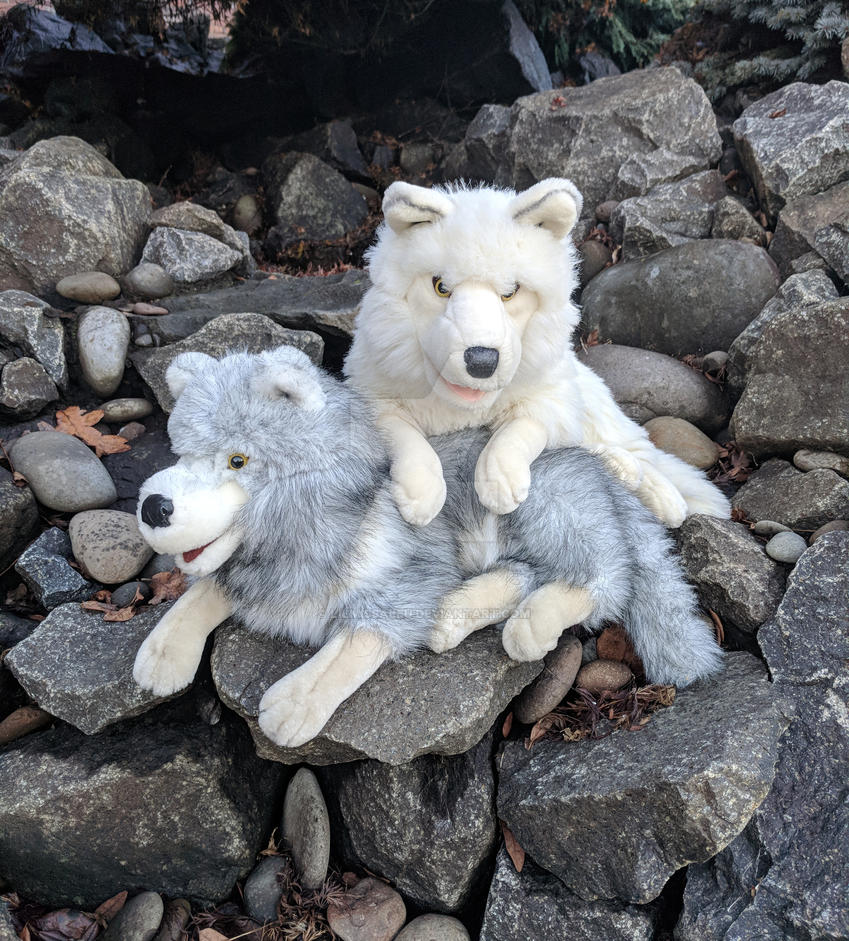 Cascade Toy Co Arctic Wolf Puppets by LilMissAleu