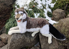 Ramat Laying Husky Plush