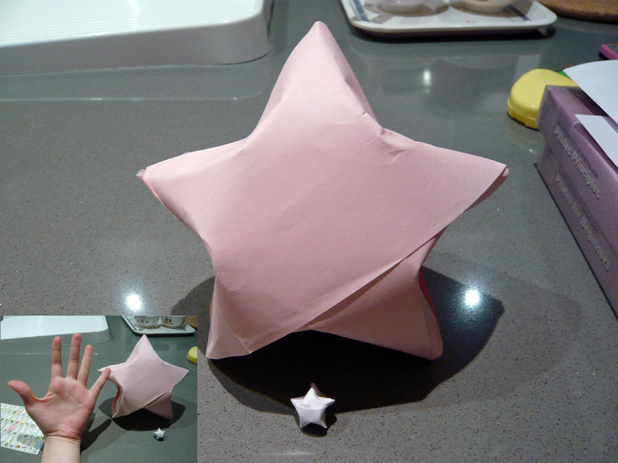 Giant paper star by melmee on deviantart for How to make a big paper star