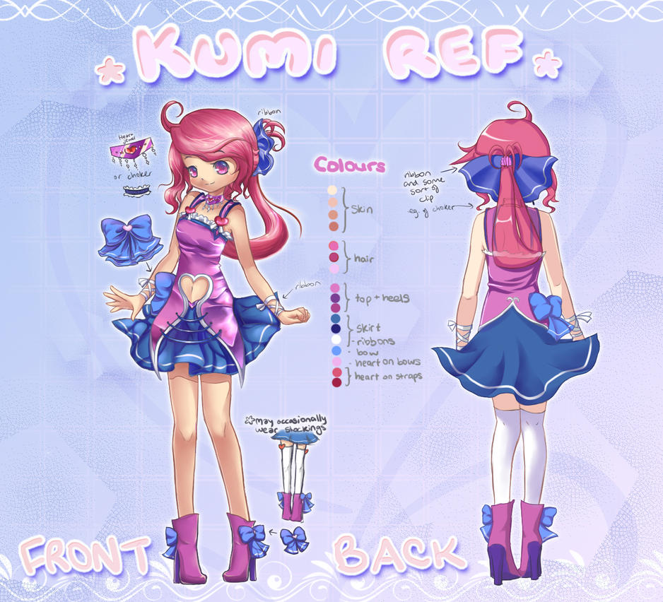 Kumi Ref sheet by Melmee