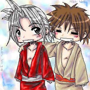 Amidamaru and Mosuke -3- by chibicomadreja