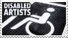Disabled Artists stamp by clovenhoofguise