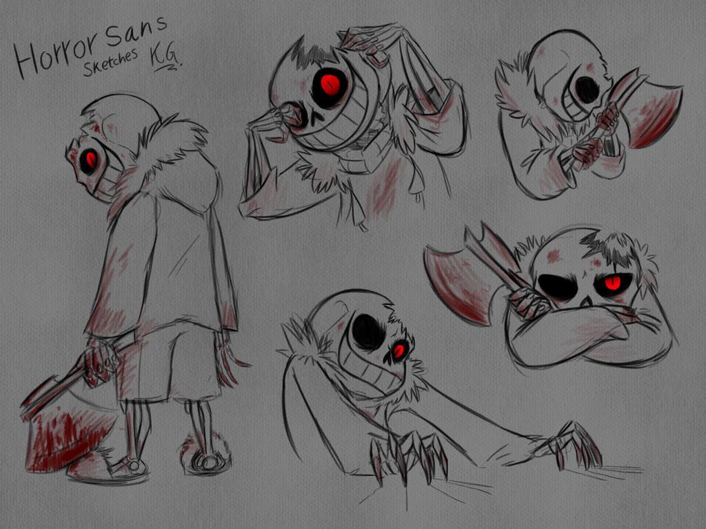 Рисунки хоррор санс