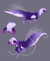 Psittacosaurus Spider!! by KlaraGibson