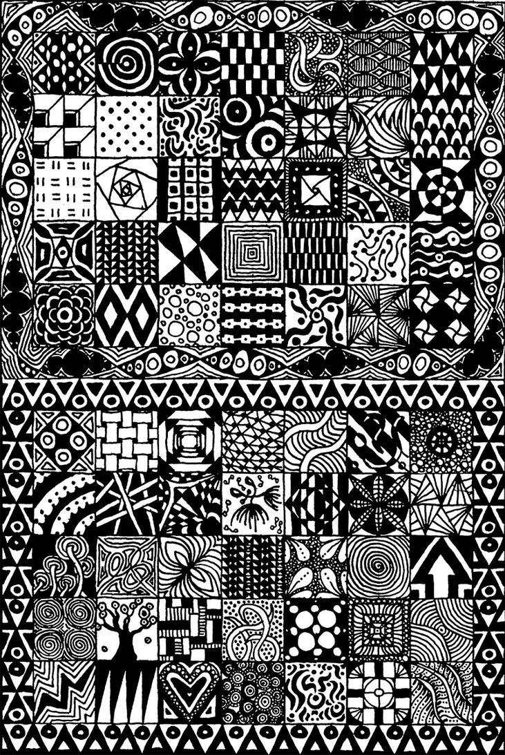 Zentangle squares by steveland67